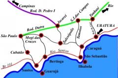Mapa do litoral